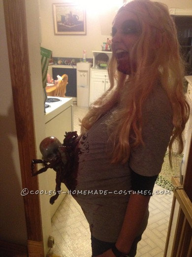 Scariest Pregnant Zombie Costume Ever! - 1