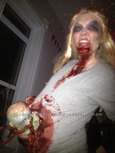 Scariest Pregnant Zombie Costume Ever! - 3