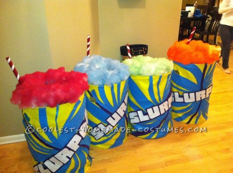Age Appropriate Group Costume for Little Girls: Slurpees - 1