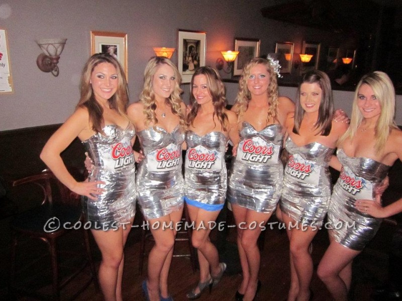 Sexy Coors Light 6-Pack Easy DIY Group Costume