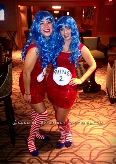 Sexy Do-It-Yourself Thing 1 and Thing 2 Costumes