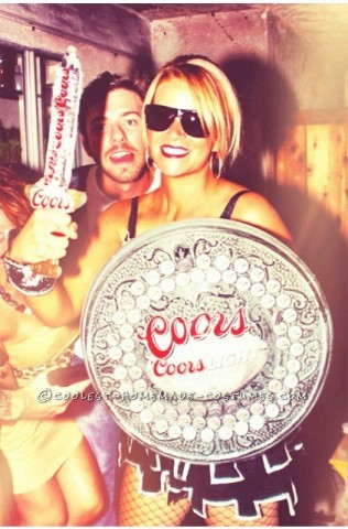 Sexy and Funny Homemade Woman's Halloween Costume: Coors Knight: I Googled