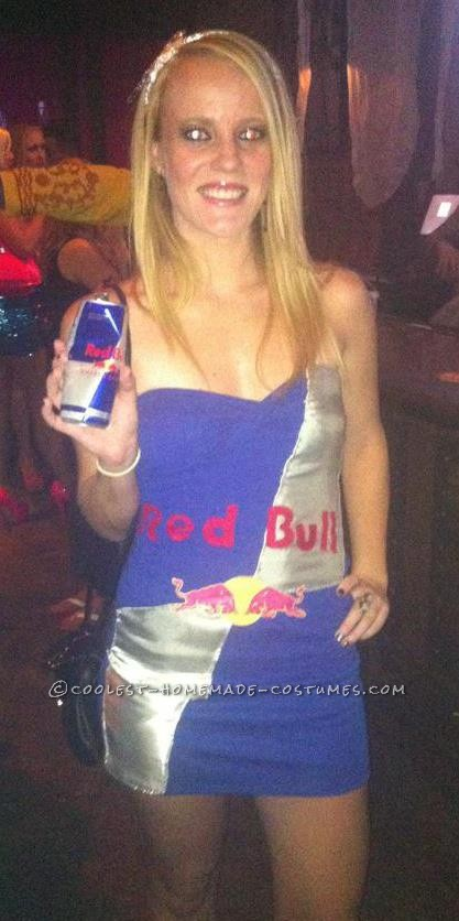 Sexy Red Bull Can Costume