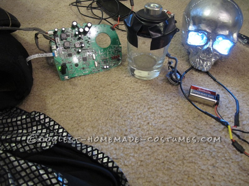 The speaker system inside the skulls.  That glass turns the entire skull into a gigantic speaker!