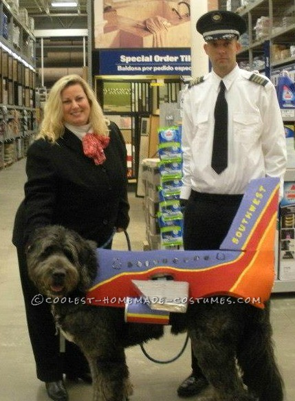 Here we are! Me as the flight attendant, my husband as the Pilot and our adorable airplane, Gallagher!