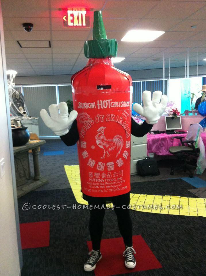 Spicy Homemade Sriracha Hot Sauce Costume