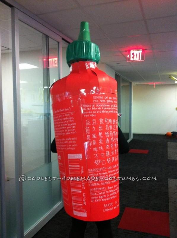 Spicy Homemade Sriracha Hot Sauce Costume - 1