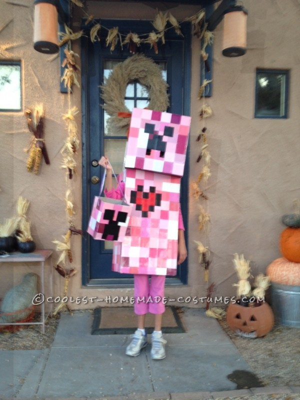 Coolest Elemental Creeper Costume from Minecraft: My daughter (along with every other kid in America) is obsessed with Minecraft. She especially loves the creeper characters, but didn't want to be t
