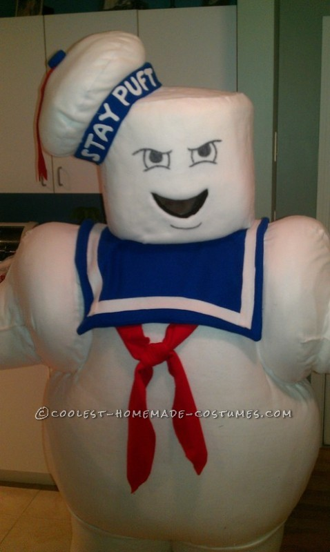 Fun Homemade Stay Puft Marshmallow Man Halloween Costume