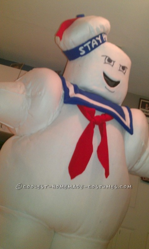 Fun Homemade Stay Puft Marshmallow Man Halloween Costume - 3