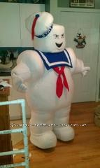 Fun Homemade Stay Puft Marshmallow Man Halloween Costume - 2