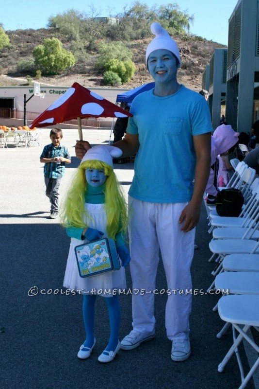 Super Adorable Smurfette Costume for a Girl