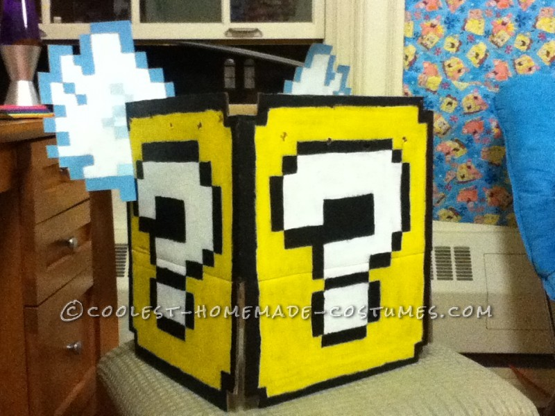 Super Mario Flying Question Mark Block Costume for the Broke College Girl! - 1