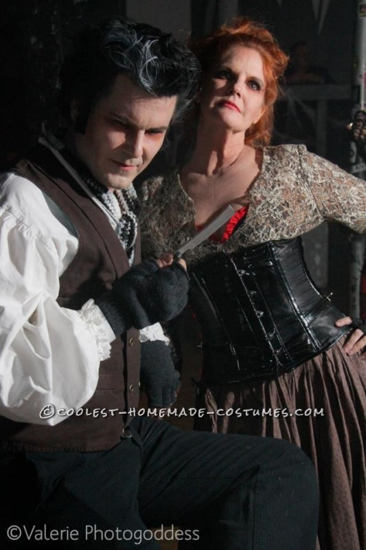 Taken by a professional at the party - I don't have may pictures of Sweeny Todd alone..