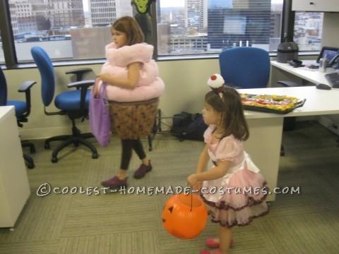 Sweetest Chocolate Cupcake Halloween Costume for a Girl