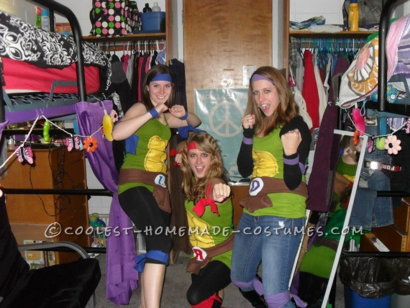 Fun and Easy Teenage Mutant Ninja Turtles Girls Group Halloween Costume - 3