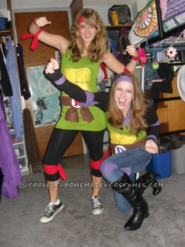 Fun and Easy Teenage Mutant Ninja Turtles Girls Group Halloween Costume - 2