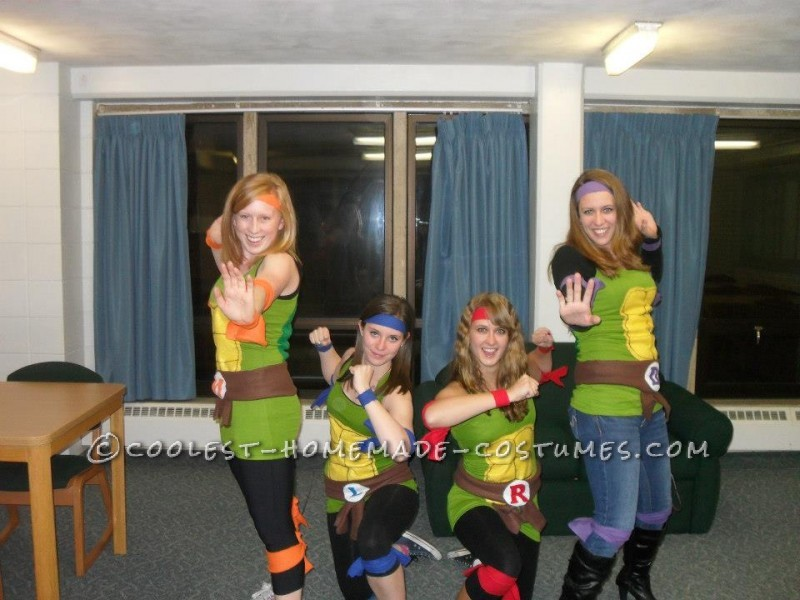 Fun and Easy Teenage Mutant Ninja Turtles Girls Group Halloween Costume - 1