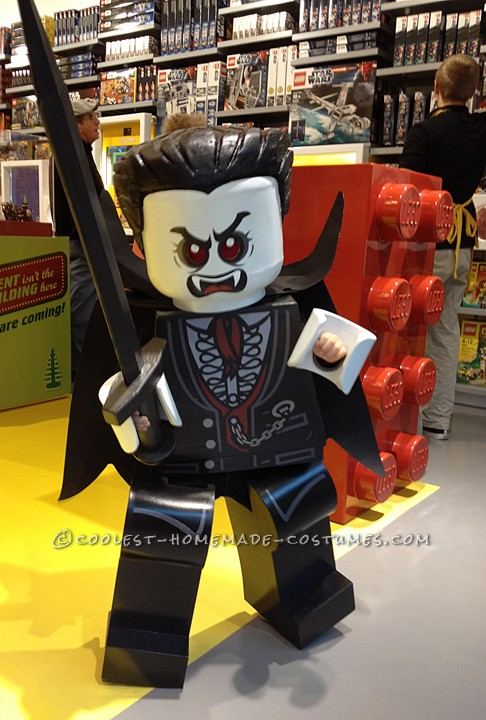 Awesome Homemade Minfigure Costume: The Awakening of Lego Lord Vampyre