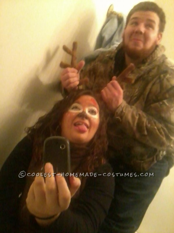 The Best Deer and Hunter Halloween Couple Costume Ever! - 6