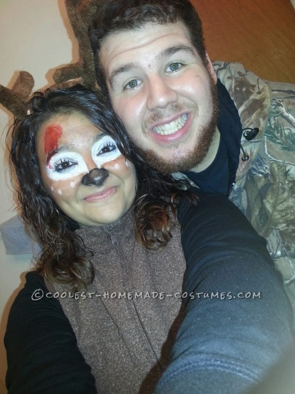 The Best Deer and Hunter Halloween Couple Costume Ever!