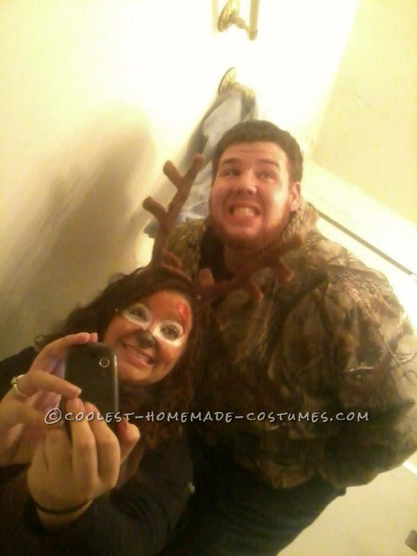 The Best Deer and Hunter Halloween Couple Costume Ever! - 3