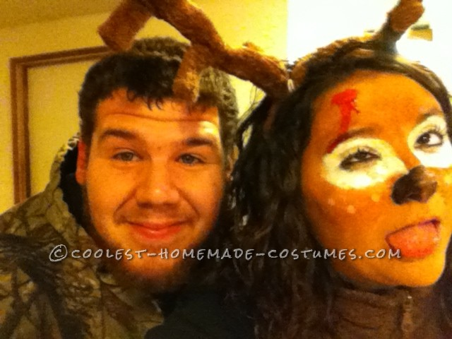 The Best Deer and Hunter Halloween Couple Costume Ever! - 2