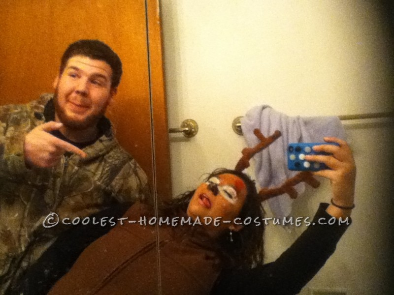 The Best Deer and Hunter Halloween Couple Costume Ever! - 1