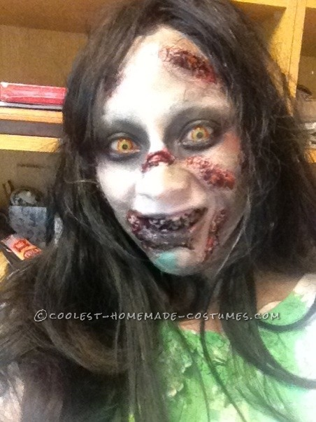 Creepy Homemade Regan Halloween Costume from The Exorcist