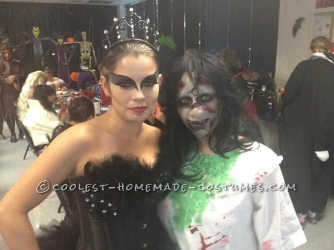 Creepy Homemade Regan Halloween Costume from The Exorcist - 2