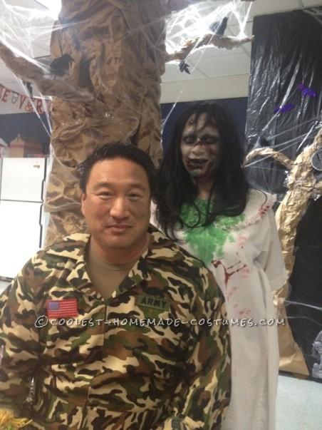 Creepy Homemade Regan Halloween Costume from The Exorcist - 3