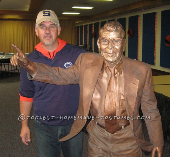 Original Homemade Costume: The Joe Paterno Statue - 1