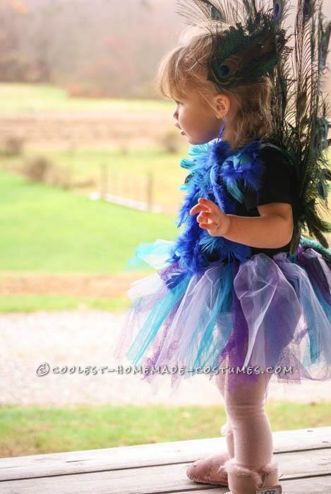Cutest Homemade Peacock Costume for a Toddler - 3