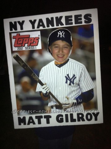 Creative Diy Halloween Costume Idea Topps Baseball Card