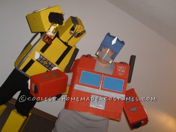Homemade Transformers Couple Costume