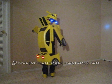 Awesome Homemade Transforming Bumblebee Transformer Halloween Costume