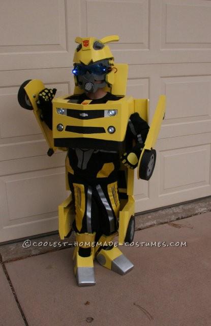 Awesome Homemade Transforming Bumblebee Transformer Halloween Costume