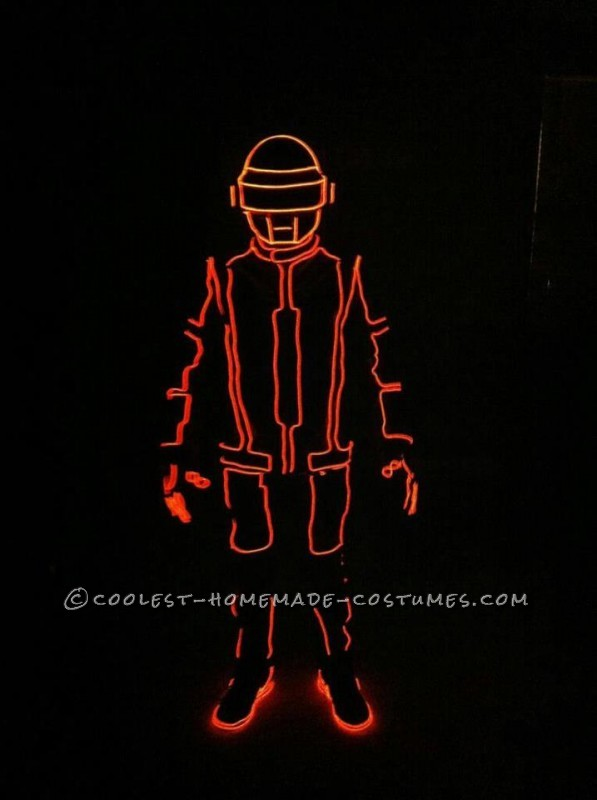 Glowing Daft Punk Couple Costume with Tron EL Wire Suit!