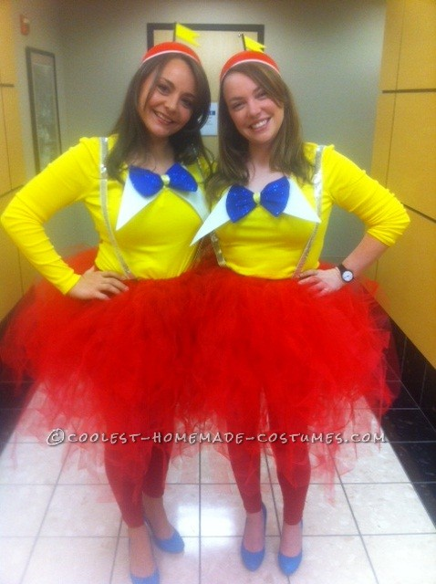 Cutest Tweedle Dee and Tweedle Dum Couple Halloween Costumes: Meet the Mandies!  Our names are Mandy and Mandi and we work together all day every day. Our desks are next to each other, we like to refer to oursel