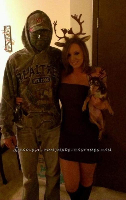 Unique and Easy Hunter and Deer Couple Halloween Costume - 4