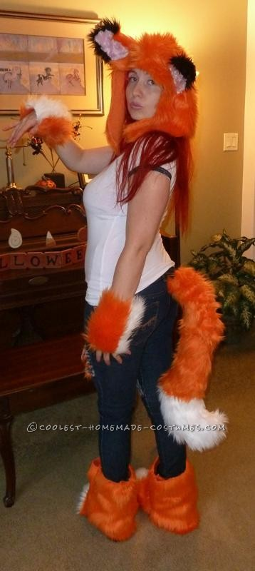 Car Fox showing off her tail