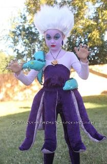 My daughter was dying to be Ursula for Halloween this year.  After searching the web for a costume to buy, I realized that there wasn't one out