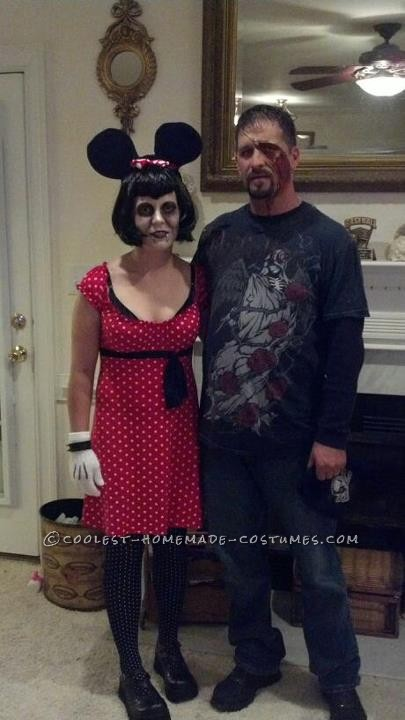Vampire Minnie Mouse Costume: My daughter loves Minnie Mouse and we were originally going to both go as Minnie Mouse.  She decided to be Little Red Riding Hood so I changed up my