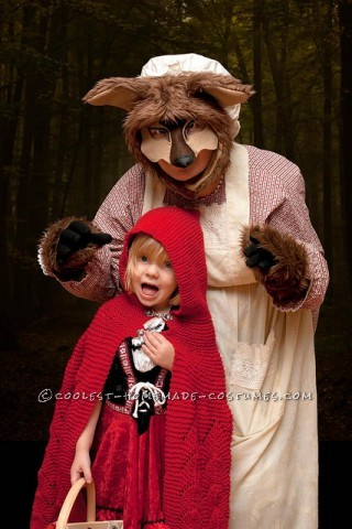 Not-So-Scary Homemade Big Bad Wolf Costume