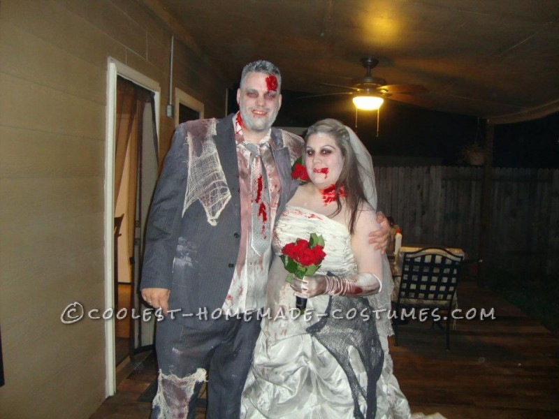 Zombie Bride and Groom Halloween Couple Costume