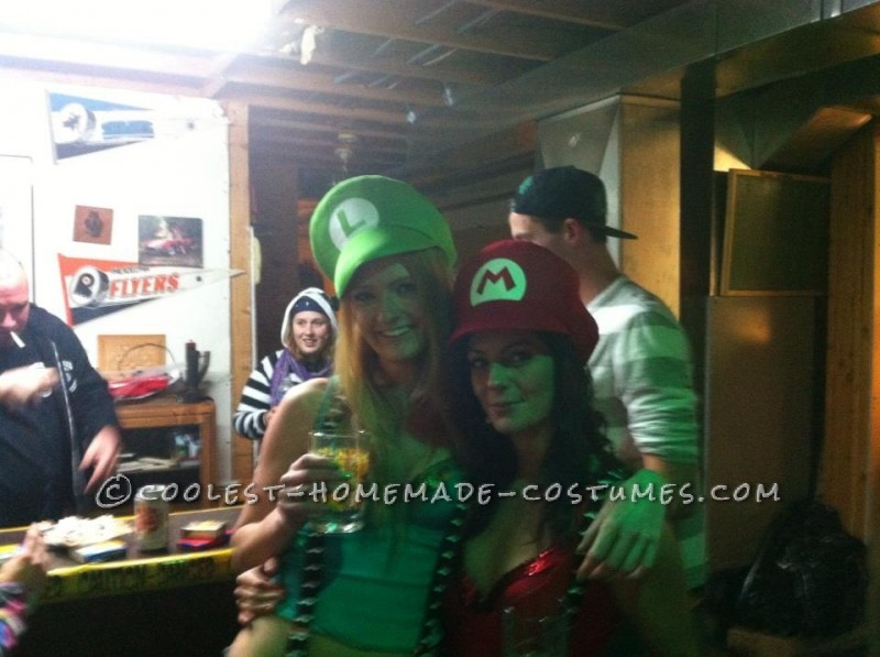 Bombshell Mario and Luigi Girl Costumes