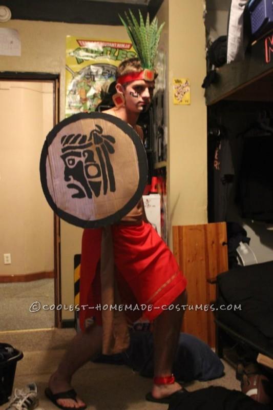 Coolest Mayan Warrior Costume Ever