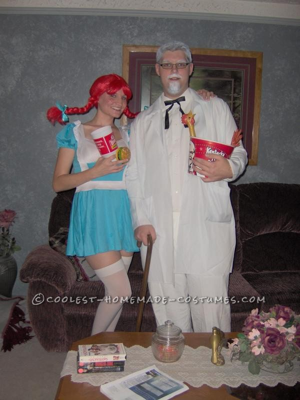 Fast Food Fashion: Colonel Sanders and Wendy Couple Costume