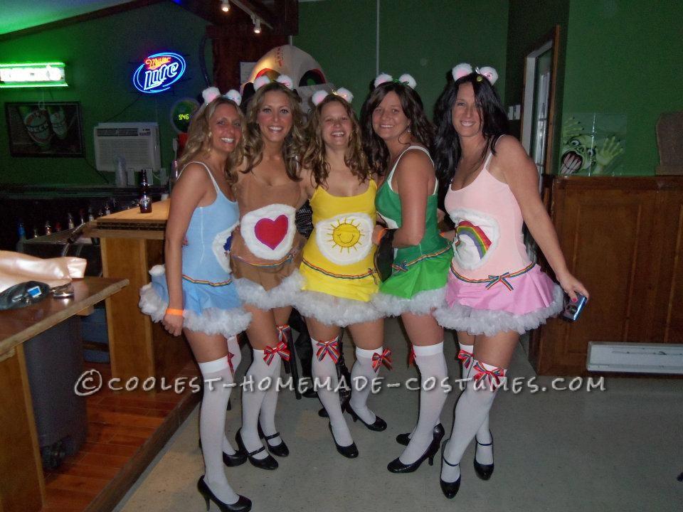 Super Cute Homemade Care Bears Group Costume