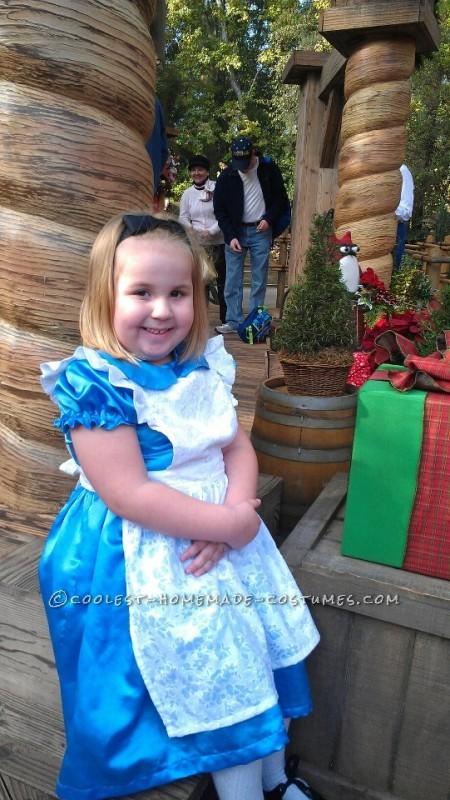 in line to see santa at Disneyland